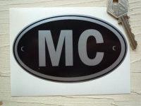 MC Monaco Black & Silver ID Plate Sticker. 5