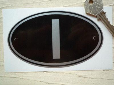 "I Italy ID Plate Sticker. 5""."
