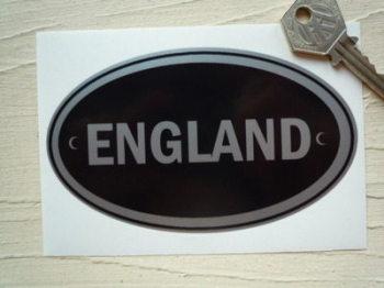 "England Black & Silver ID Plates Sticker. 5""."
