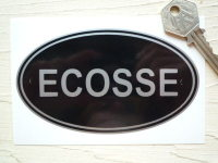ECOSSE Scotland Black & Silver ID Plate Sticker. 5