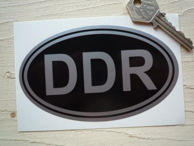 "DDR East Germany Black & Silver ID Plate Sticker. 5""."