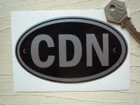CDN Canada Black & Silver ID Plate Sticker. 5