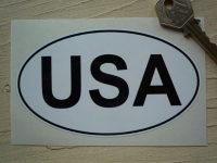 "USA Black & White ID Plate Sticker. 5""."