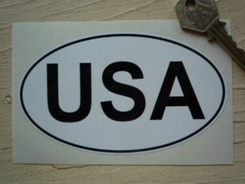 "USA Black & White ID Plate Sticker. 5""."