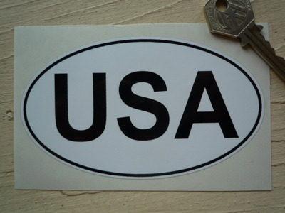 USA Black & White ID Plate Sticker. 5