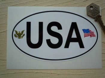 "USA American Eagle National ID Plate Sticker. 3.5"" or 6""."
