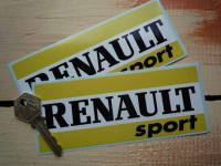 Renault Sport Black, Yellow & White Oblong Stickers. 6