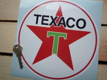 """Texaco Star Green T Petrol Pump Sticker. 8""""."""