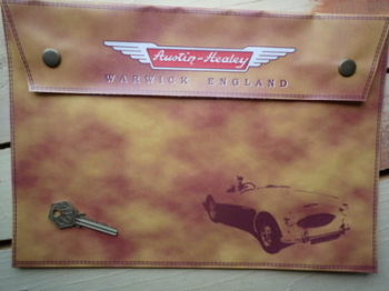 Austin Healey Warwick England Large A4 Document Holder/Toolbag