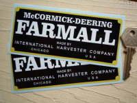 "McCormick-Deering Farmall by International Harvester Stickers. 5"" Pair."
