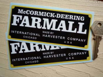 "McCormick-Deering Farmall by International Harvester Stickers. 5"" Pair."