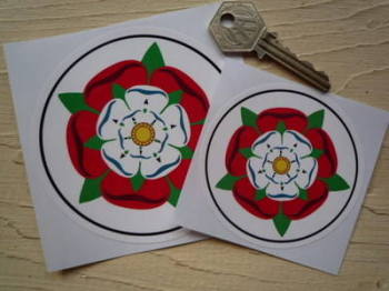 "Tudor Union Rose Circular Sticker. 3"" or 4""."