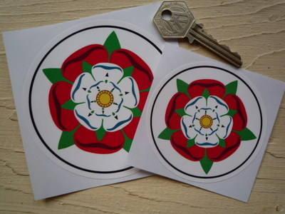 "Tudor Union Rose Circular Sticker. 3"" or 4""."