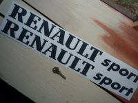 "Renault Sport Cut Text Stickers. 22"" Pair."