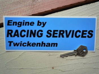 "Engine by Racing Services Twickenham Sticker. 8""."