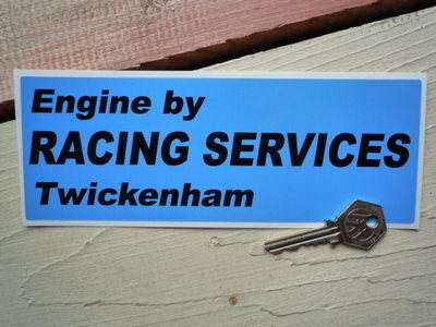 Engine by Racing Services Twickenham Sticker. 8