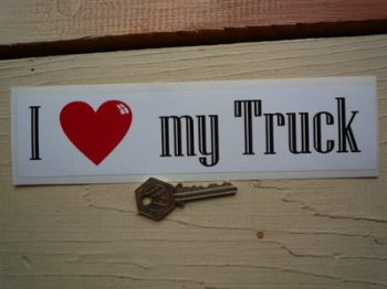 "I Love My Truck Bumper Sticker. 9""."