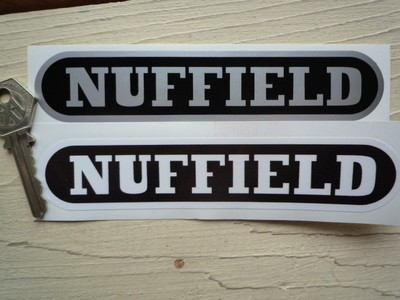 """Nuffield Tractors Stickers. 6"""" Pair."""