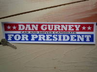 Dan Gurney For President Car & Driver Sticker. 12