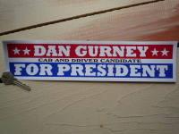 Dan Gurney For President Car & Driver Sticker. 12