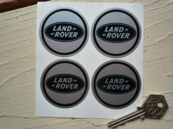 Land Rover Blue Oval Wheel Centre Style Stickers. Set of 4. 50mm.