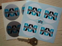 Minilite Circular Stickers. Set of 4. 50mm.