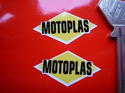 """Motoplas Diamond Stickers. 1.5"""" Pair."""