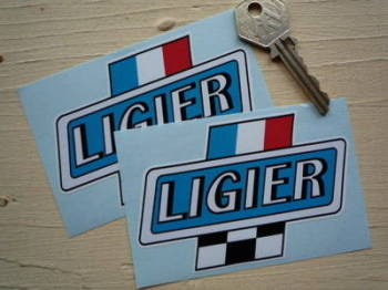 "Ligier Cross Badge Stickers. 3.5"" Pair."