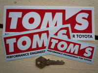 Tom's Performance Engineering For Toyota Stickers. 4