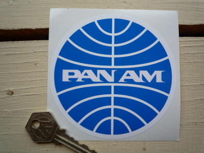 Pan Am Circular Logo Sticker. 3