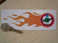 "Vespa Italia Flames Stickers. 5.75"" Pair."