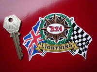 BSA Flag & Scroll Various Models Sticker. 4