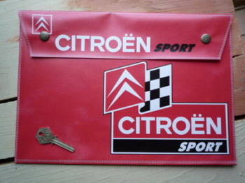 Citroen Sport Large A4 Document Holder/Toolbag.