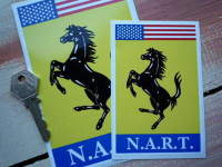 "N.A.R.T. Ferrari North American Racing Team Style 1 Sticker. 4.5"", 6"" or 9""."