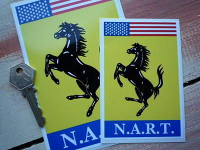 """N.A.R.T. Ferrari North American Racing Team Style 1 Sticker. 4.5"""", 6"""" or 9""""."""