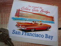 "San Francisco Bay. Golden Gate Bridge Sticker. 4""."