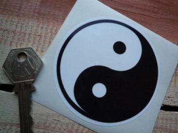 """Yin Yang Zen Sticker. 3""""."""