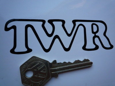 """TWR Tom Walkinshaw Racing Cut Vinyl Outline Style Stickers. 4"""" or 7"""" Pair."""