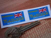 Rickman Metisse Small Oblong Stickers. 1.5