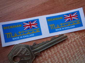 "Rickman Metisse Small Oblong Stickers. 1.5"" Pair."