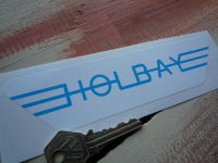 Holbay Winged Blue & White Stickers. 6.75