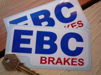 "EBC Brakes Shaped Stickers. 5"" or 6.5"" Pair."