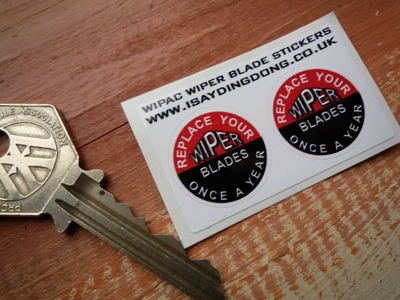 Wipac Wiper Blades Stickers. 1