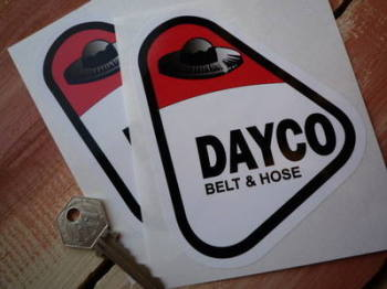 "Dayco Belt & Hose Stickers. 4"" Pair."