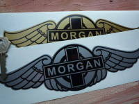 Morgan Winged Logo Sticker. 6