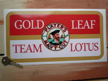 "Gold Leaf Team Lotus Player's Navy Cut Sticker. 6"" or 12""."