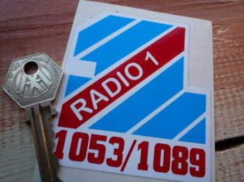 """Radio 1 One 1053/1089 Sticker. 3""""."""