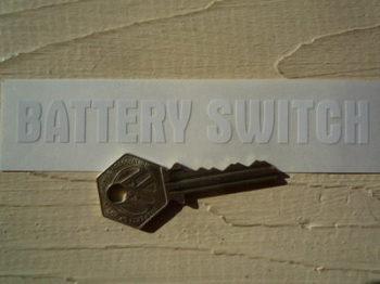 "Battery Switch Cut Vinyl Sticker. White. 5""."