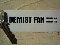 Demist Fan Sticker. Black & White. Set of 3.