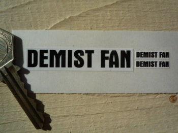 Demist Fan Sticker. Black & White. Set of 3.